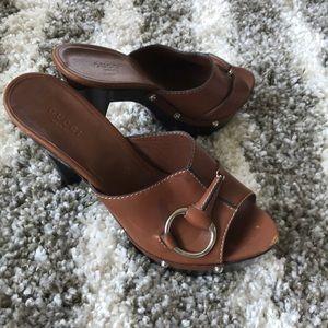 FLASH SALE🥳🥳🥳 Gucci horse bit platform heels